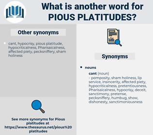 pious platitudes, synonym pious platitudes, another word for pious platitudes, words like pious platitudes, thesaurus pious platitudes