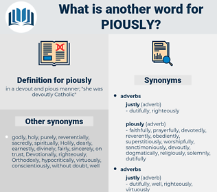 piously, synonym piously, another word for piously, words like piously, thesaurus piously