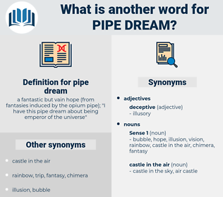 pipe dream, synonym pipe dream, another word for pipe dream, words like pipe dream, thesaurus pipe dream