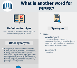 pipes, synonym pipes, another word for pipes, words like pipes, thesaurus pipes