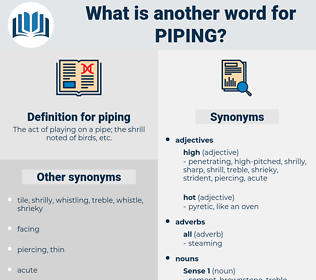 piping, synonym piping, another word for piping, words like piping, thesaurus piping