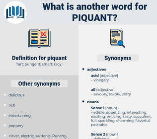 piquant, synonym piquant, another word for piquant, words like piquant, thesaurus piquant