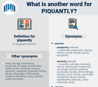 piquantly, synonym piquantly, another word for piquantly, words like piquantly, thesaurus piquantly