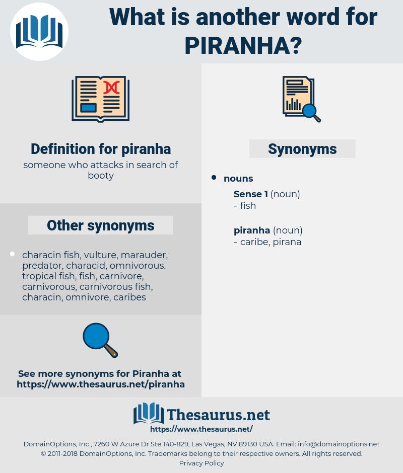 piranha, synonym piranha, another word for piranha, words like piranha, thesaurus piranha
