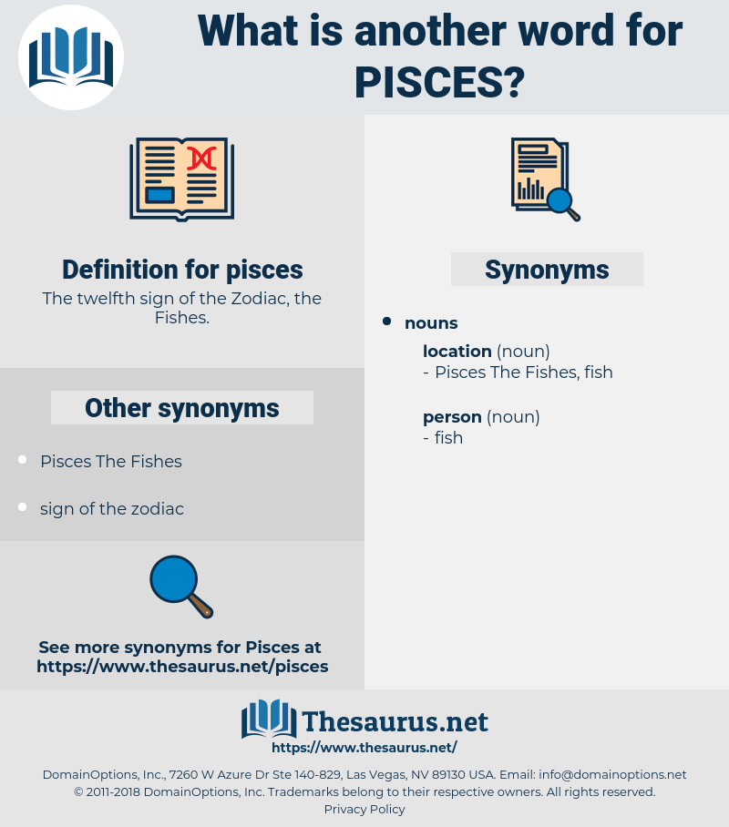 Synonyms for PISCES - Thesaurus net