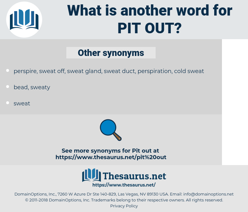 pit out, synonym pit out, another word for pit out, words like pit out, thesaurus pit out