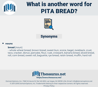 pita bread, synonym pita bread, another word for pita bread, words like pita bread, thesaurus pita bread