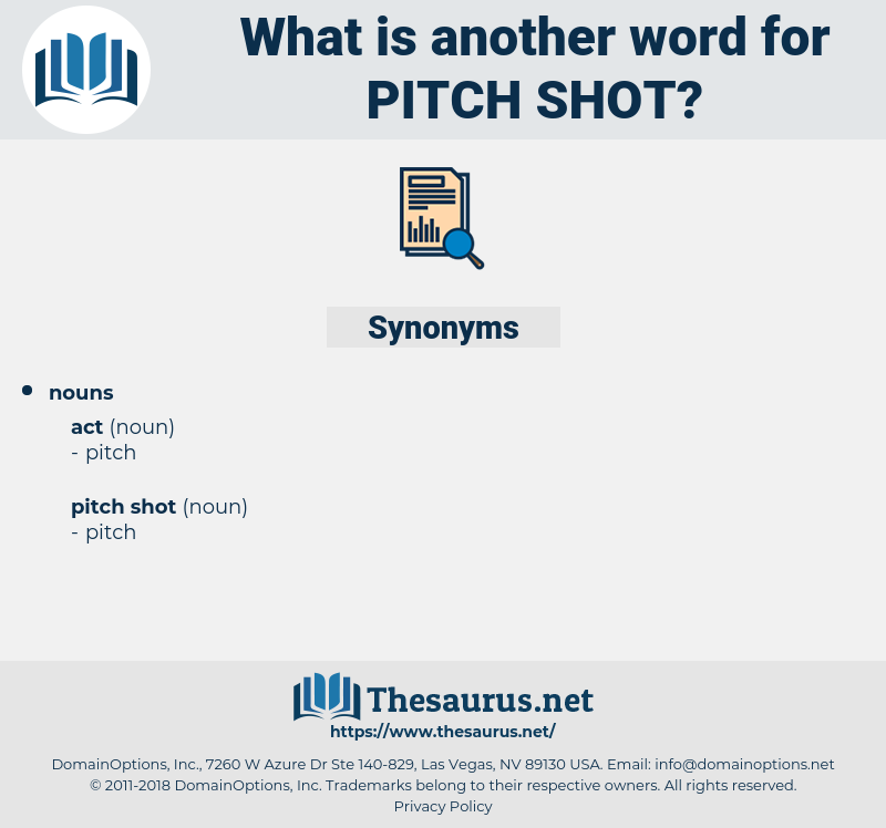 pitch shot, synonym pitch shot, another word for pitch shot, words like pitch shot, thesaurus pitch shot
