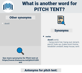 pitch tent, synonym pitch tent, another word for pitch tent, words like pitch tent, thesaurus pitch tent