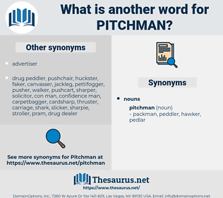 pitchman, synonym pitchman, another word for pitchman, words like pitchman, thesaurus pitchman