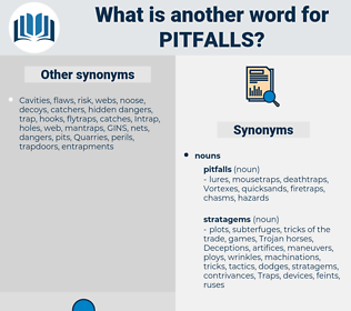 pitfalls, synonym pitfalls, another word for pitfalls, words like pitfalls, thesaurus pitfalls