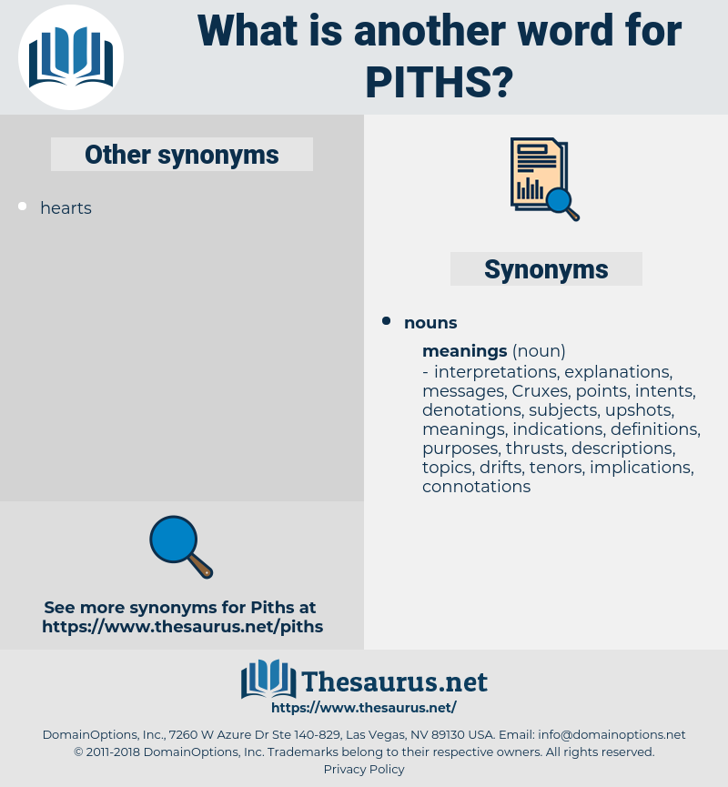 piths, synonym piths, another word for piths, words like piths, thesaurus piths