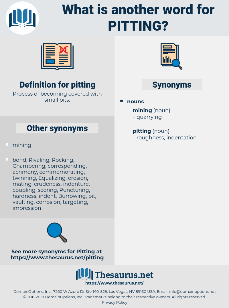pitting, synonym pitting, another word for pitting, words like pitting, thesaurus pitting