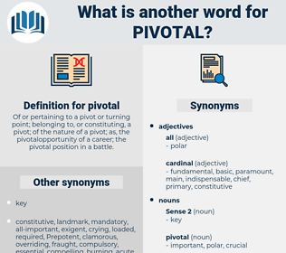 pivotal, synonym pivotal, another word for pivotal, words like pivotal, thesaurus pivotal