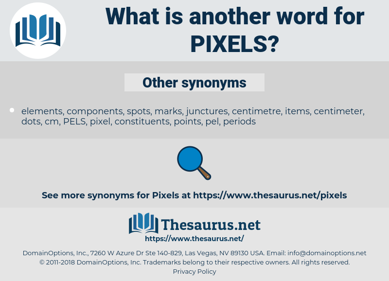 Synonyms for PIXELS - Thesaurus net