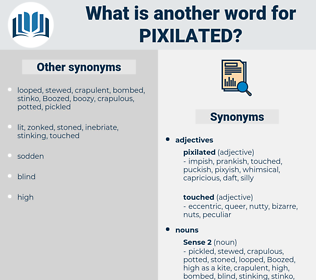 pixilated, synonym pixilated, another word for pixilated, words like pixilated, thesaurus pixilated