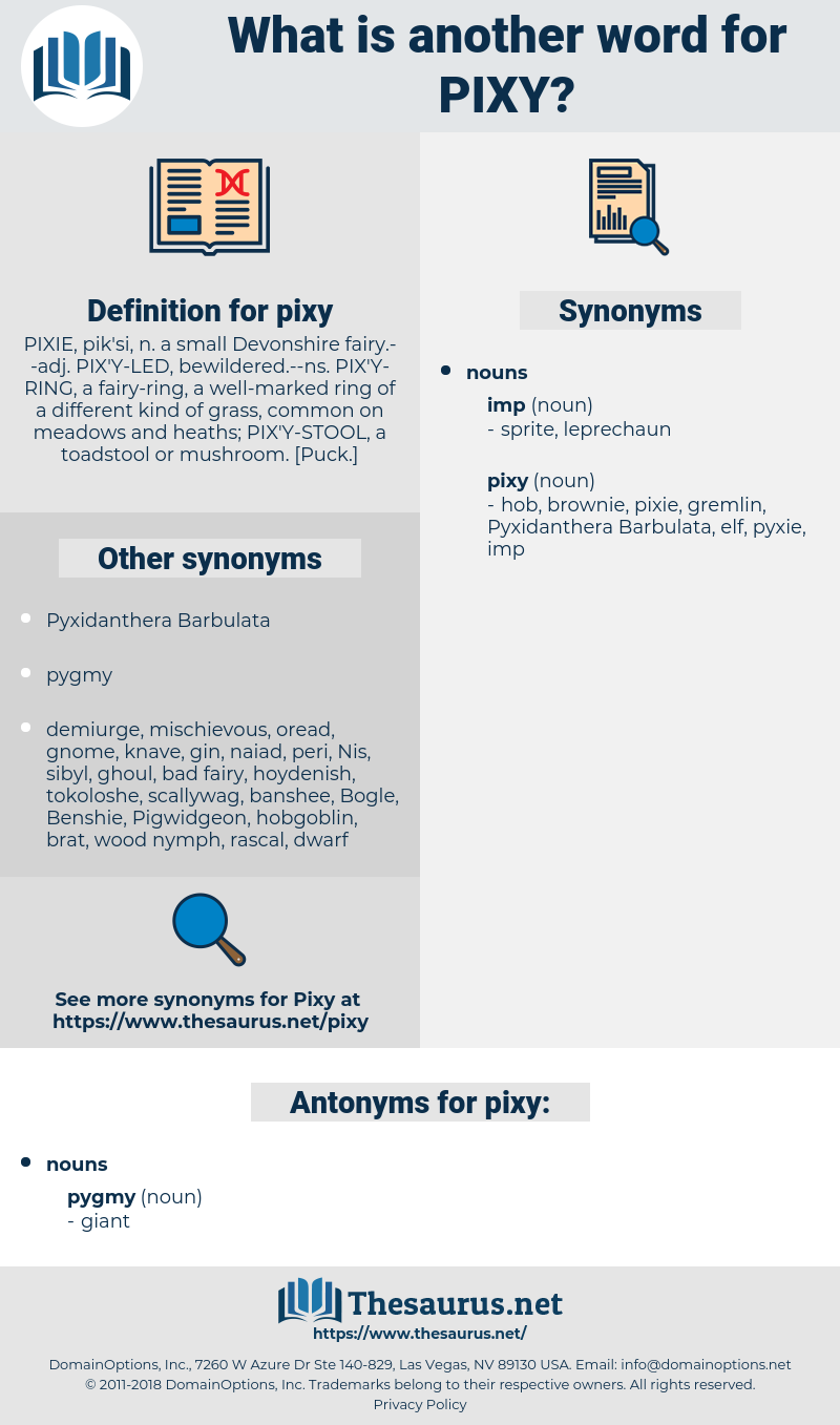 pixy, synonym pixy, another word for pixy, words like pixy, thesaurus pixy