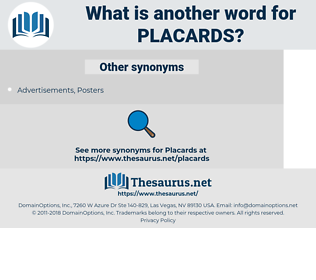 placards, synonym placards, another word for placards, words like placards, thesaurus placards