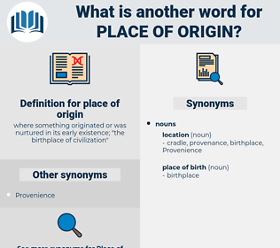place of origin, synonym place of origin, another word for place of origin, words like place of origin, thesaurus place of origin
