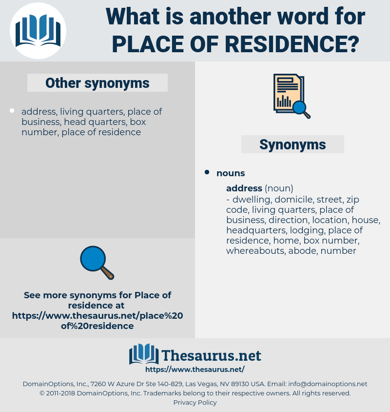 place of residence, synonym place of residence, another word for place of residence, words like place of residence, thesaurus place of residence