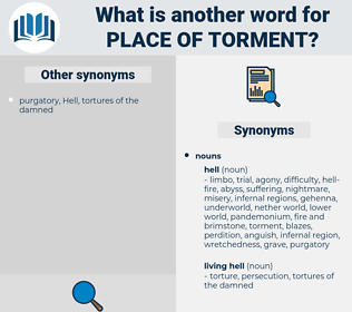 place of torment, synonym place of torment, another word for place of torment, words like place of torment, thesaurus place of torment