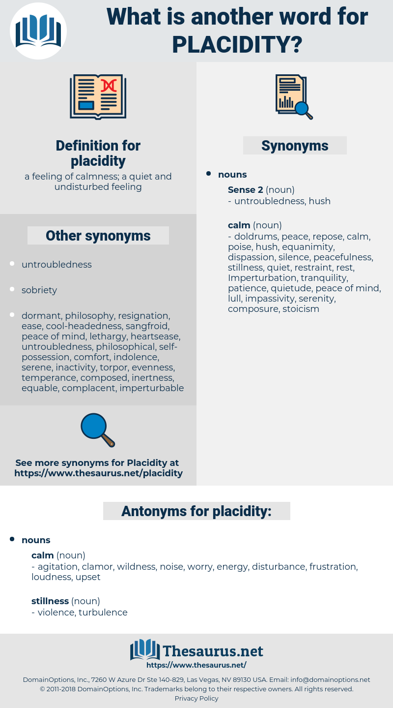 placidity, synonym placidity, another word for placidity, words like placidity, thesaurus placidity