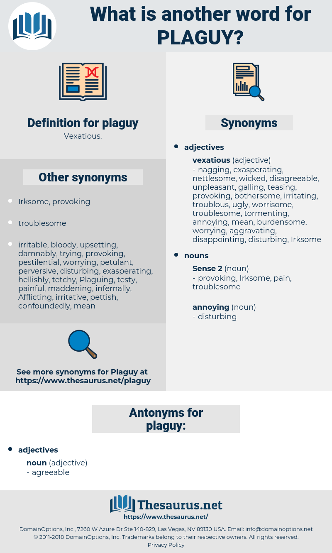plaguy, synonym plaguy, another word for plaguy, words like plaguy, thesaurus plaguy