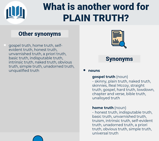 plain truth, synonym plain truth, another word for plain truth, words like plain truth, thesaurus plain truth