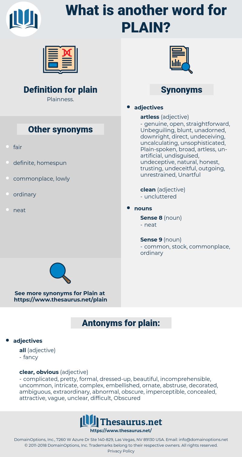 plain, synonym plain, another word for plain, words like plain, thesaurus plain