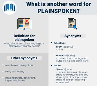 plainspoken, synonym plainspoken, another word for plainspoken, words like plainspoken, thesaurus plainspoken