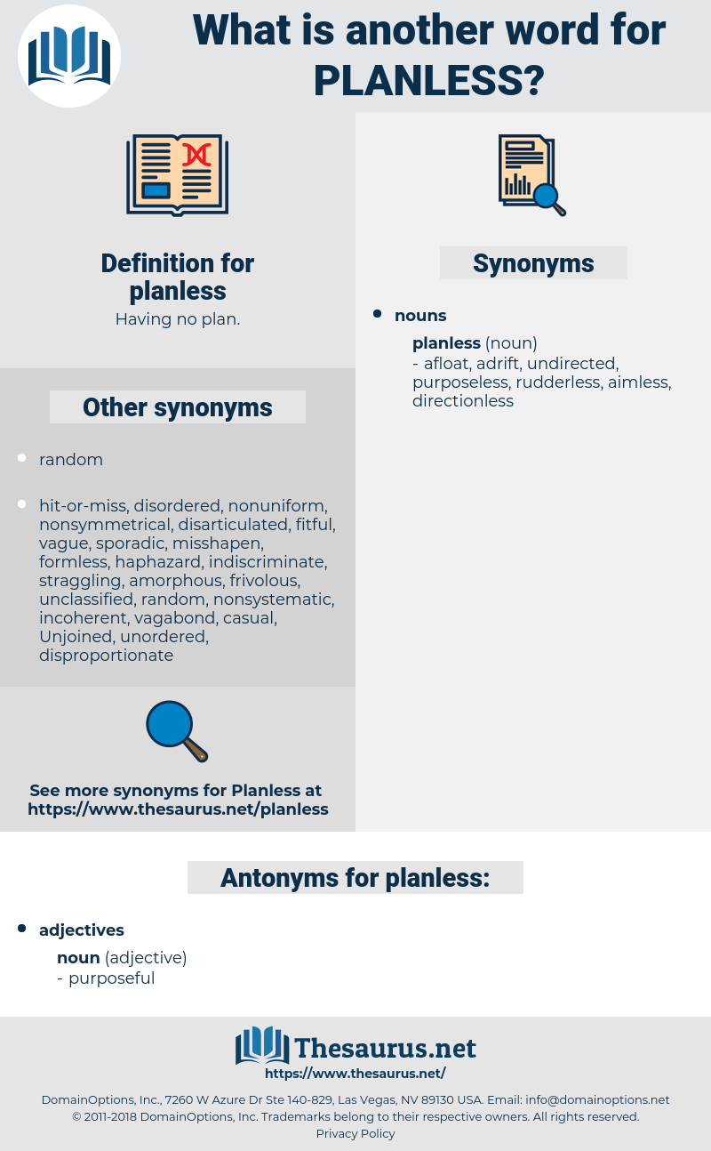 planless, synonym planless, another word for planless, words like planless, thesaurus planless