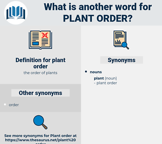 plant order, synonym plant order, another word for plant order, words like plant order, thesaurus plant order