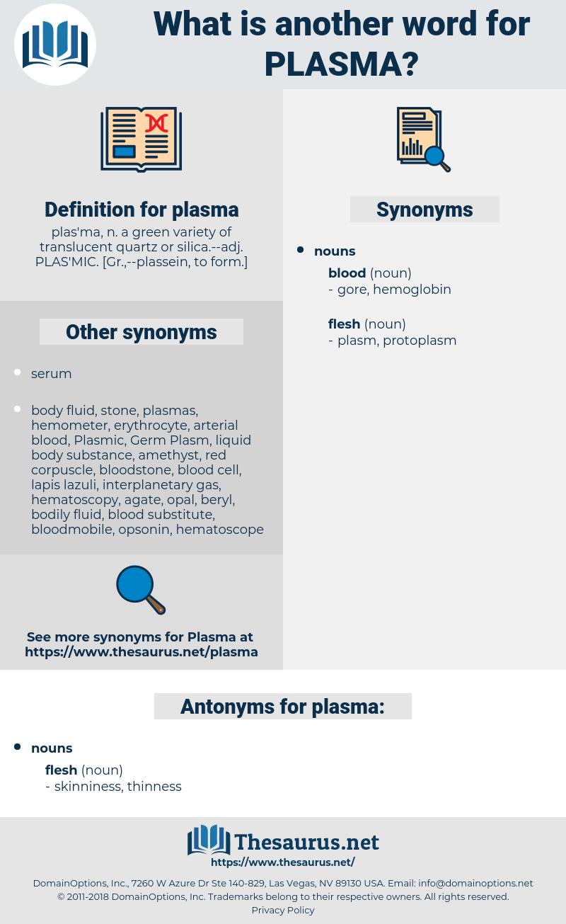 plasma, synonym plasma, another word for plasma, words like plasma, thesaurus plasma