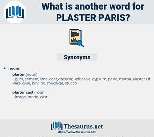 plaster paris, synonym plaster paris, another word for plaster paris, words like plaster paris, thesaurus plaster paris