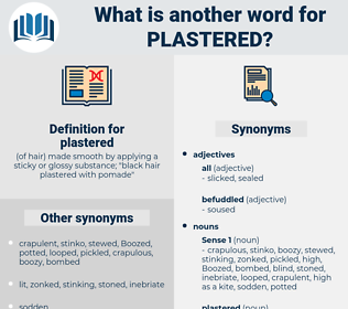 plastered, synonym plastered, another word for plastered, words like plastered, thesaurus plastered