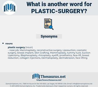 plastic surgery, synonym plastic surgery, another word for plastic surgery, words like plastic surgery, thesaurus plastic surgery