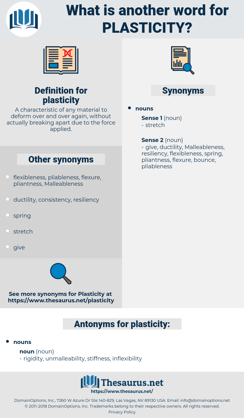 plasticity, synonym plasticity, another word for plasticity, words like plasticity, thesaurus plasticity
