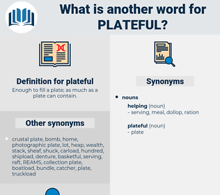 plateful, synonym plateful, another word for plateful, words like plateful, thesaurus plateful