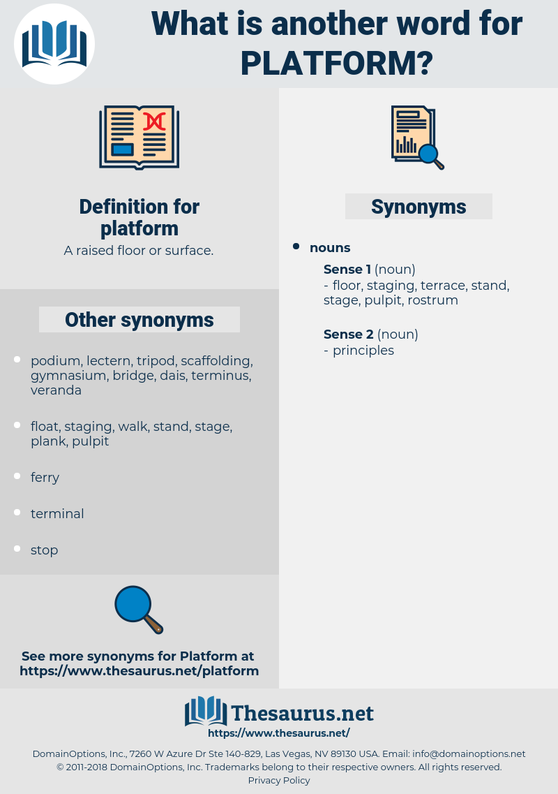 platform, synonym platform, another word for platform, words like platform, thesaurus platform