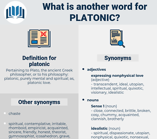 platonic, synonym platonic, another word for platonic, words like platonic, thesaurus platonic