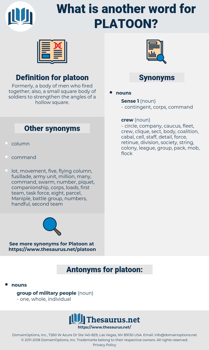 platoon, synonym platoon, another word for platoon, words like platoon, thesaurus platoon