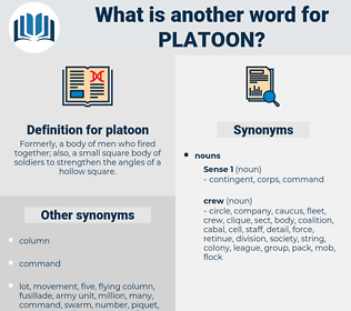 platoon, synonym platoon, another word for platoon, words like platoon, thesaurus platoon