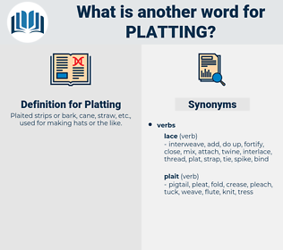 Platting, synonym Platting, another word for Platting, words like Platting, thesaurus Platting
