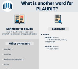 plaudit, synonym plaudit, another word for plaudit, words like plaudit, thesaurus plaudit