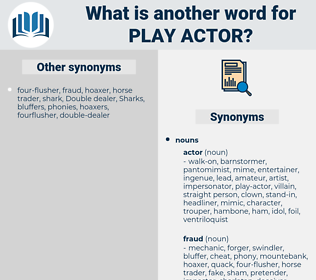 play-actor, synonym play-actor, another word for play-actor, words like play-actor, thesaurus play-actor