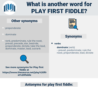 play first fiddle, synonym play first fiddle, another word for play first fiddle, words like play first fiddle, thesaurus play first fiddle