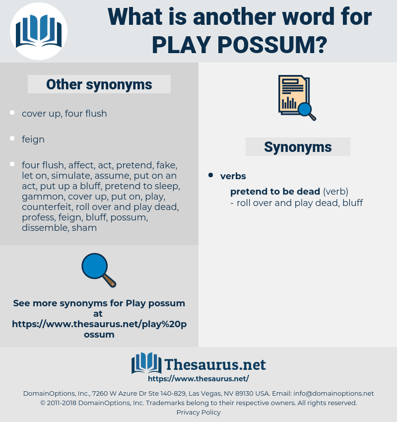 play possum, synonym play possum, another word for play possum, words like play possum, thesaurus play possum