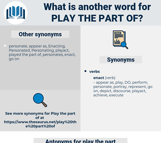 play the part of, synonym play the part of, another word for play the part of, words like play the part of, thesaurus play the part of