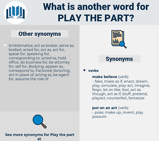 play the part, synonym play the part, another word for play the part, words like play the part, thesaurus play the part