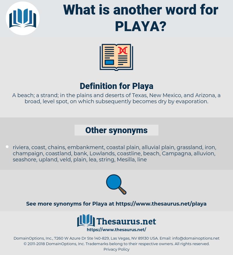 Playa, synonym Playa, another word for Playa, words like Playa, thesaurus Playa
